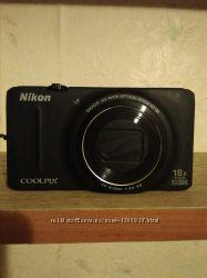 Продам бу фотоаппарат Nikon Coolpix S9200 black