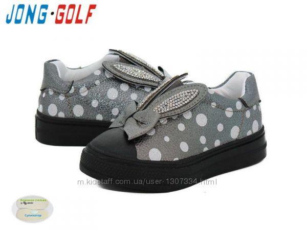 Кеды для девочки серые jong golf с ушками