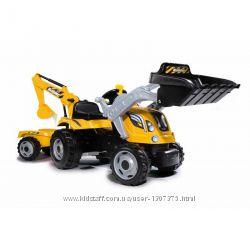 Трактор педальный с прицепом и двумя ковшами Max Smoby 710110, 710301