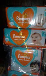 Подгузники памперсы Pampers sleep&play