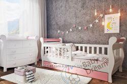 Кроватка детская от 3 лет с бортиками для девочки Miss Secret