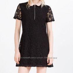 Красивое кружевное платье Zara, размер SМ, новое