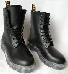 Легендарные Dr. Martens Jadon женские зимние кожаные ботинки