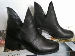 Jimmy Choo женские демисезонные ботинки маленький удобный каблук натур кожа