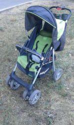 Прогулочная коляска Baby Care Voyager зелено-серого цвета