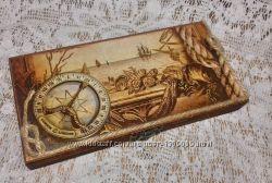 Купюрница шкатулка для денег ручная работа