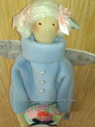 Интерьерная игрушка в стиле тильда Ангел домашнего уюта