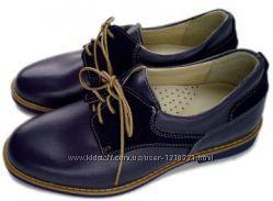 Туфли на шнуровке для мальчика Tobi, синие