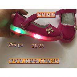 Туфли светяшки для девочки розовые