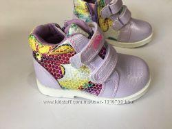 Ботинки clibee для девочки фиолетовые демисезонные