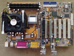 Cистемная плата Sapphire 845AS4-299  S478, процессор, кулер, память.