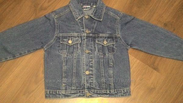 Синий джинсовый пиджак, р. 116