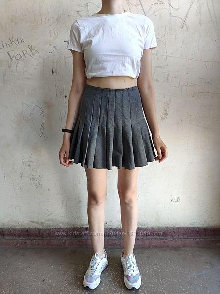 Короткая неопреновая юбка pepe jeans, спортивная юбка