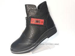 Стильные демисезонные ботиночки 33-37 Весна-Осень для девочки ТМ Канарейка