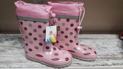 Детские резиновые сапоги для девочек р. 26-30 ТМ Kimboo
