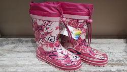 Детские резиновые сапоги для девочек р. 30-35