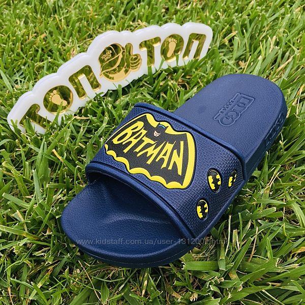 Летние шлёпки р.25-32 BATMAN для мальчика легкие на пенке.