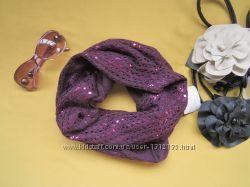 Красивый снуд хомут шарф с переливом, Pfeffinger, отличное состояние