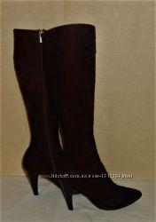 Женские кожаные замшевые коричневые сапоги giorgio vito 38р возможен торг
