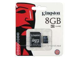 Оригинальная Карта памяти MicroSDHC 8GB Kingston Class 4