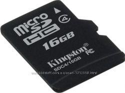 Оригинальная Карта памяти MicroSDHC 16GB Kingston