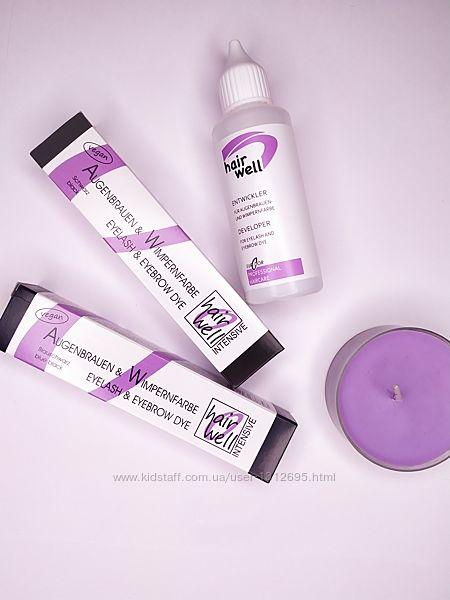 Краска для ресниц HairWell, иссиня-черная