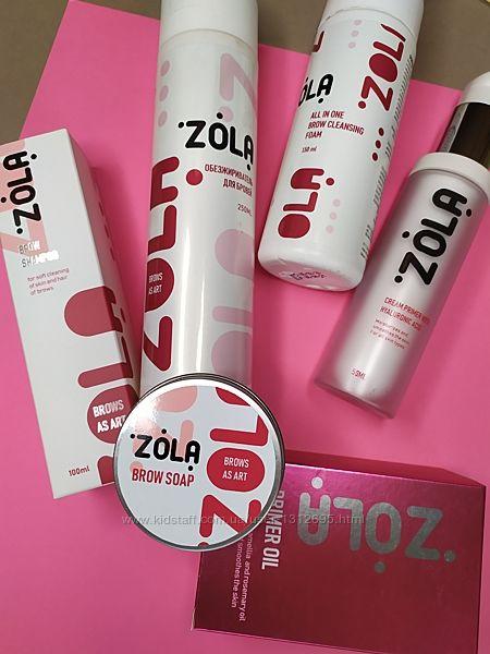 Продукция Zola для бровей шампуни, кисти, спонжи, скрабы, мыло и другое