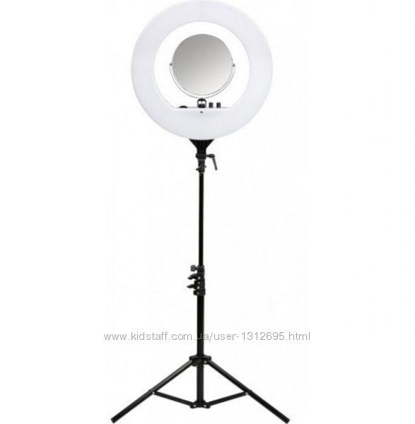 Лампа кольцевая светодиодная LED R40B со штативом тренога