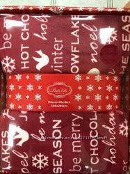 Плед новогодний в подарочной коробке 180-200