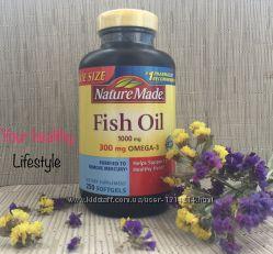 Витамины рыбий жир омега 3 США nature made fish oil 250 штук
