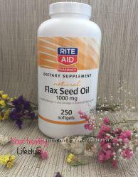 Лленое масло розница омега 3 6 9 США flaxseed oil 250 капсул