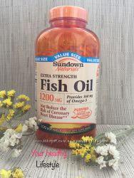 Витамины США омега 3 fish oil sundown naturals 300 штук