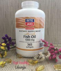 Витамины рыбий жир омега 3 США rite aid 365 штук