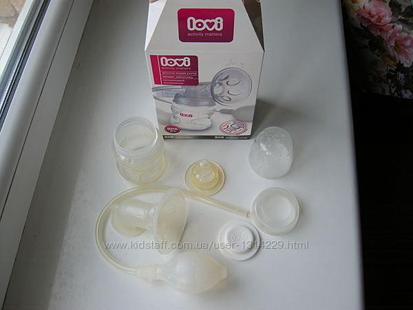 Молокоотсос Lovi ручной механический  бутылочка с соской