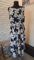 Летнее платье Papaya оригинал. Размер 14-16 на наш 48-50.