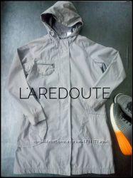 Легкая серая куртка ветровка пальто плащик на теплую весну laredoute размер