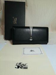 Роскошный кошелек кожаный натуральный moro jenni italy