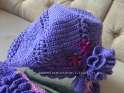 Шапка + шарф девочки