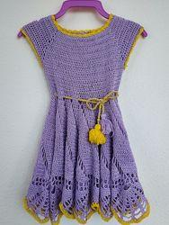 Ажурное платье ручной работы крючком на девочку 1-2 года