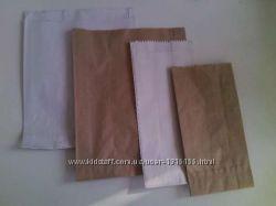 Пакеты бумажные крафт белый 50 коп. грн за 1 шт.