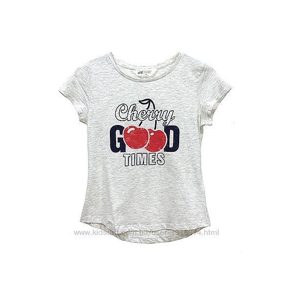 Оригинальная футболка с рисунком от бренда H&M разм. 146-152, 158-164