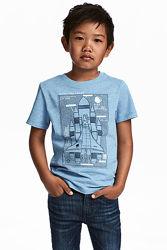 Оригинальная футболка от бренда H&M разм. 98-104