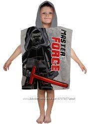 Пляжное полотенце пончо Звездные войны Дарт Вейдер для мальчика 2-6 лет