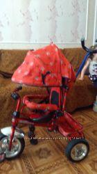 велосипед детский трехколесный с родительской ручкой