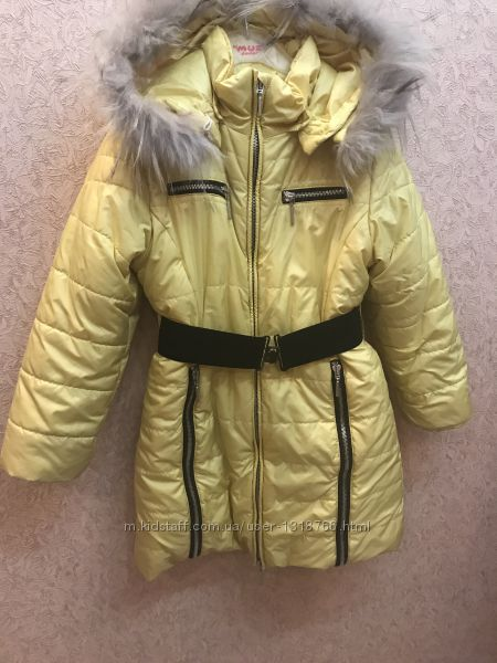 Пальто зимнее на девочку Wojcik, рост 128
