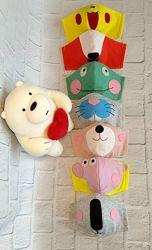 Защитные тканевые многоразовые детские маски