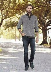 Джемпер свитер вязаный XL 56 58 euro Германия Livergy пуловер