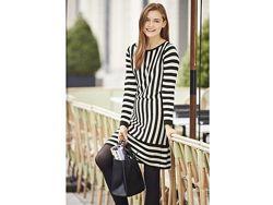 Трикотажное платье L 44 46 euro полоска esmara германия