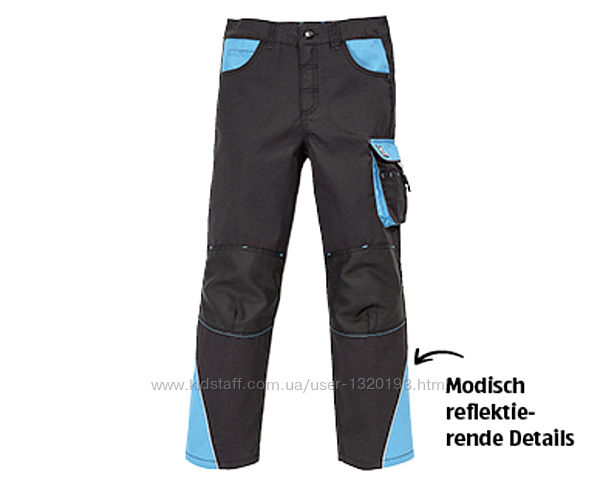 Детские брюки рабочие рост 146 152 kingcraft германия черные