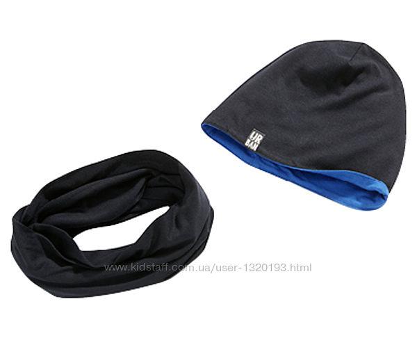 Комплект детский шапка двусторонняя  шарф снуд 92 104 alive германия